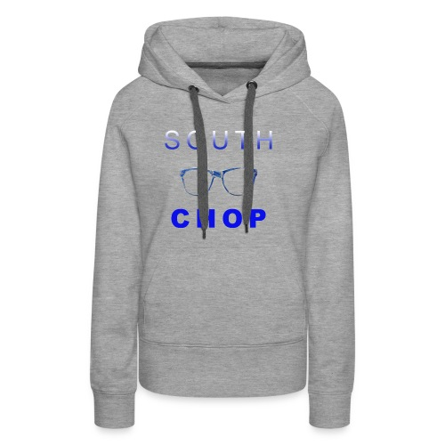 Glasses logo with text - Women's Premium Hoodie