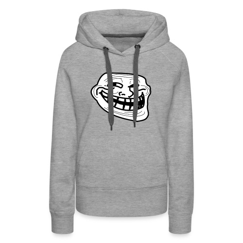 Troll Face short sleeved shirt - Women's Premium Hoodie
