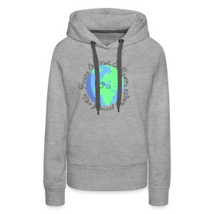 Peace and war and love on the planet earth - Women's Premium Hoodie