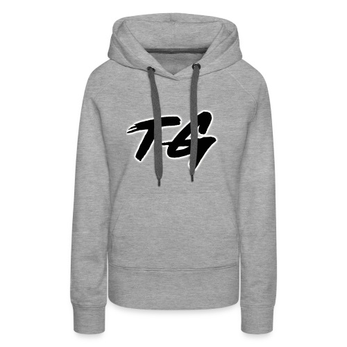 Black and White Lettering - Women's Premium Hoodie