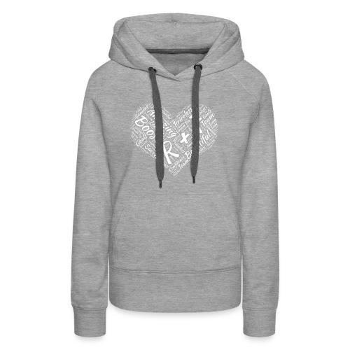 R+F White Heart - Women's Premium Hoodie