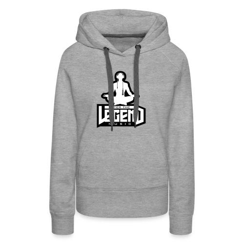 Enter The Legend Music B/W - Women's Premium Hoodie