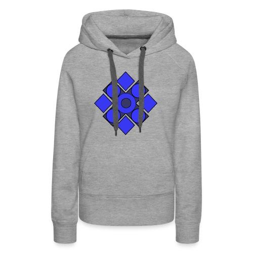 Geometric Cerulean - Women's Premium Hoodie