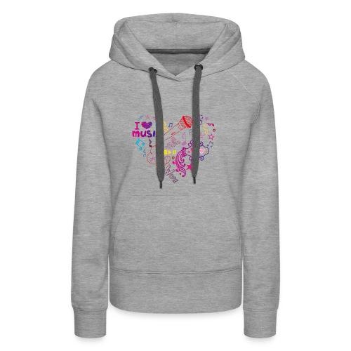 T-shirts music love - Women's Premium Hoodie