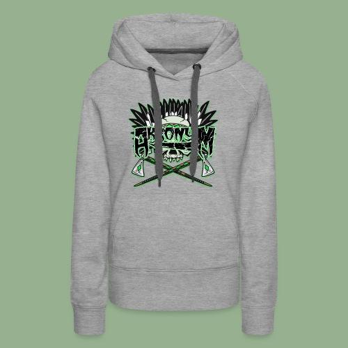 Akronym Skull and Logo - Women's Premium Hoodie
