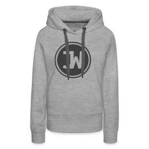 Grey Johannes With Logo - Women's Premium Hoodie