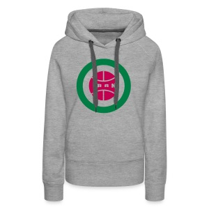 Retro round Iran badge - Women's Premium Hoodie