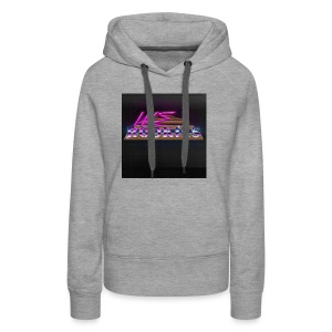 80s we Rookies T shirt design (rough backdrop) - Women's Premium Hoodie