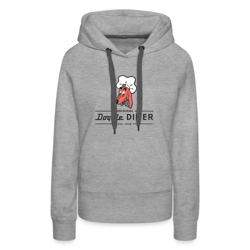 Doggie Diner Logo 1 with NO back color - Women's Premium Hoodie