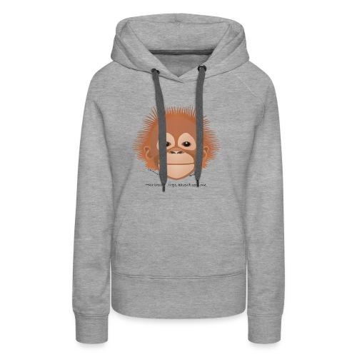 baby orangutan face - Women's Premium Hoodie