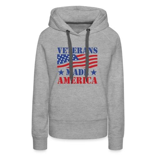 Veterans Made America logo - Women's Premium Hoodie