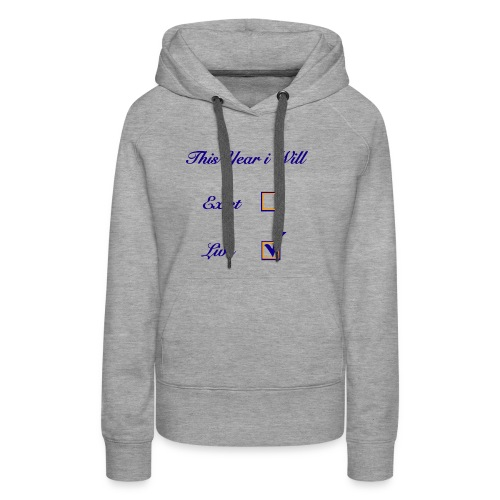 EXISTING VS. LIVING - Women's Premium Hoodie