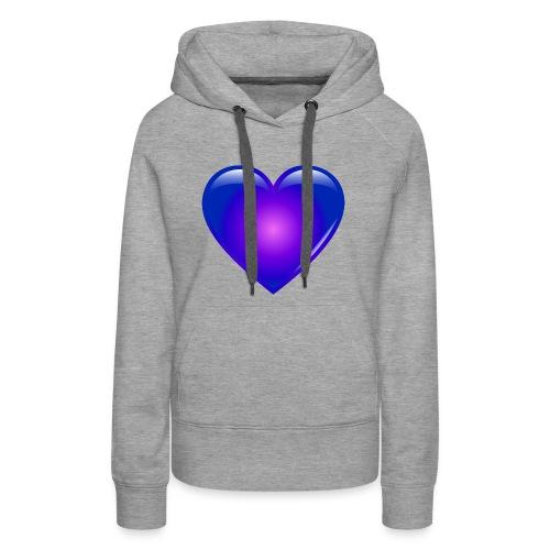 Blue Heart - Women's Premium Hoodie