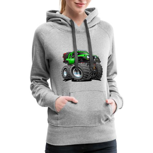 Off road 4x4 gecko green jeeper cartoon - Women's Premium Hoodie