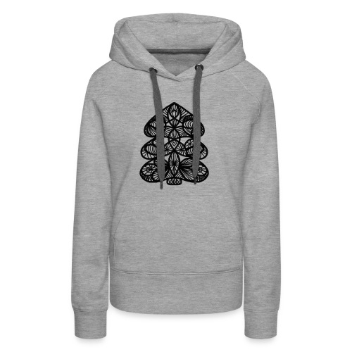Simple Victorian Lace Design Christmas Tree - Women's Premium Hoodie