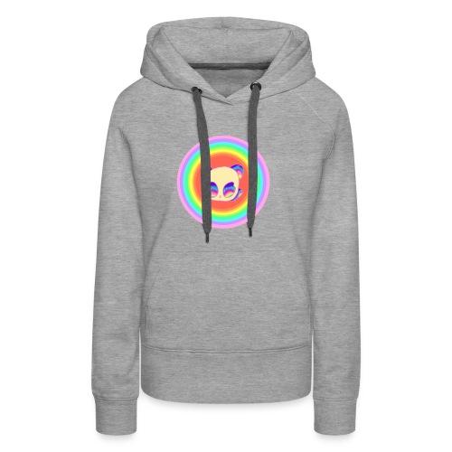 Panda Baby Lies Down Rainbow - Women's Premium Hoodie