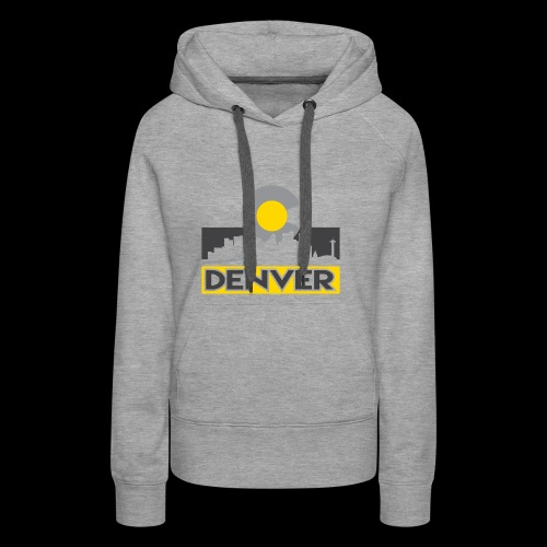 Denver Gray and Gold - Women's Premium Hoodie