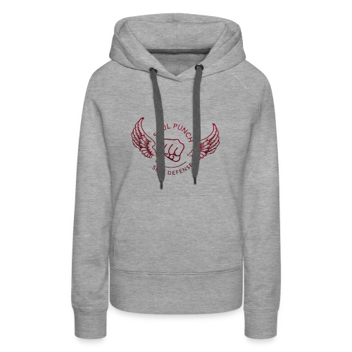 Soul Punch Self Defense Logo straight red preview - Women's Premium Hoodie