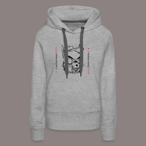 Mellow Mind (Black on White) - Women's Premium Hoodie