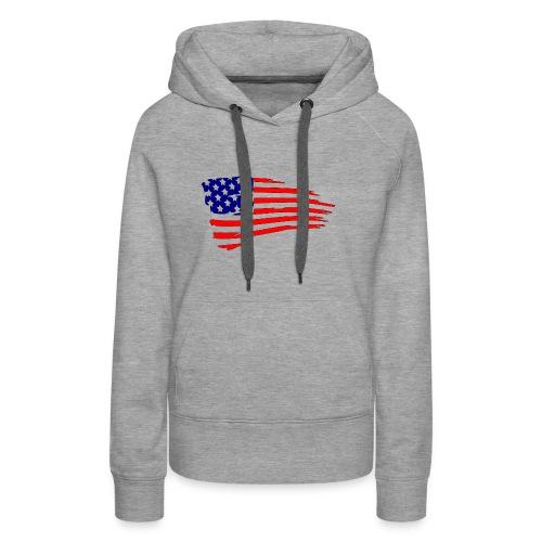 USFlagRed Blue - Women's Premium Hoodie