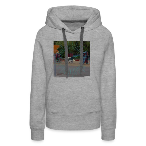t-shirt cougar canyon tracks - Women's Premium Hoodie