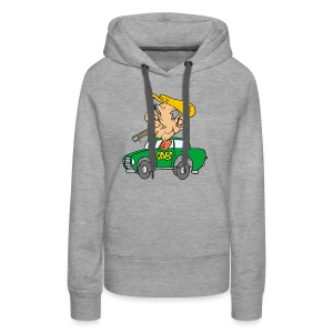 Old cab/Taxi driver enjoying Cigar - Women's Premium Hoodie