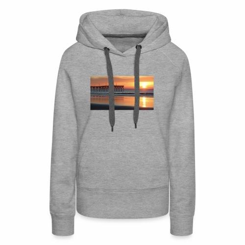 fall sunset on the beach - Women's Premium Hoodie