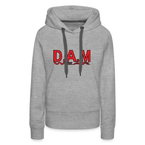 BIG RED D A M LETTERS - Women's Premium Hoodie