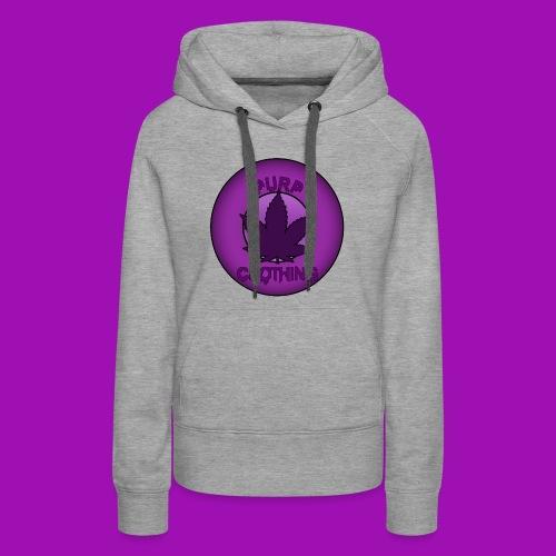 Purp Leaf Logo - Women's Premium Hoodie