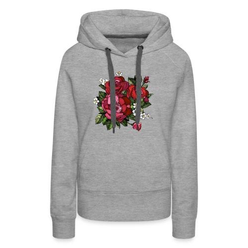 Flowers Design - Women's Premium Hoodie