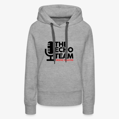 Echo Team Logo Black Letters - Women's Premium Hoodie