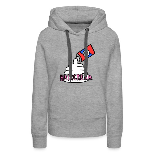 haircream cream logo - Women's Premium Hoodie