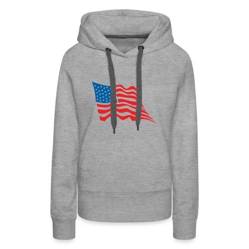 America Flag - Women's Premium Hoodie