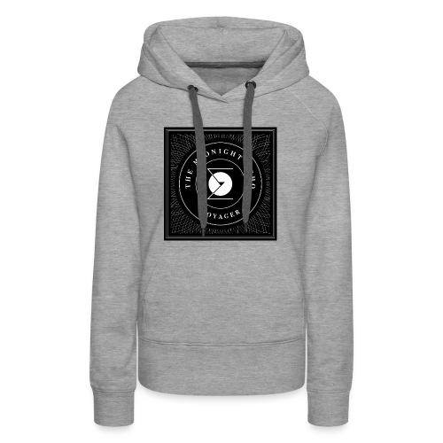 The Midnight Echo 'Voyager' - Logo - Black & White - Women's Premium Hoodie