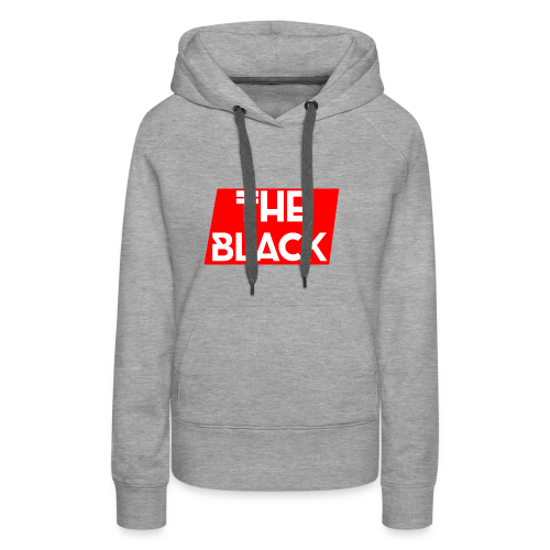 The Black Logo [Red Supreme Look] - Women's Premium Hoodie