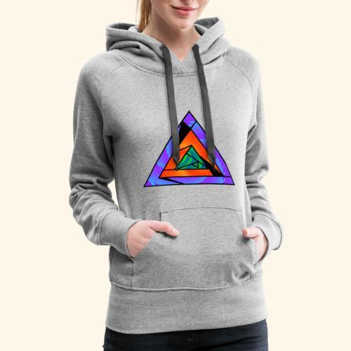 Trippy Triangle - Women's Premium Hoodie