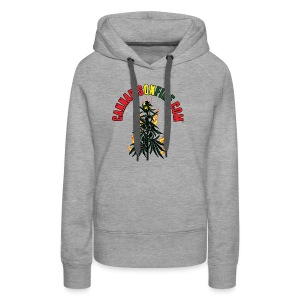 Cannabis On Fire T-Shirt 420 Cannabis Wear 2017 - Women's Premium Hoodie
