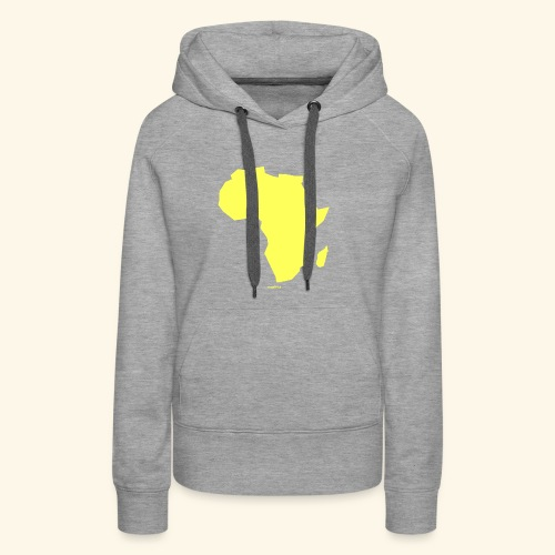 Africa Map Continent yellow - Women's Premium Hoodie
