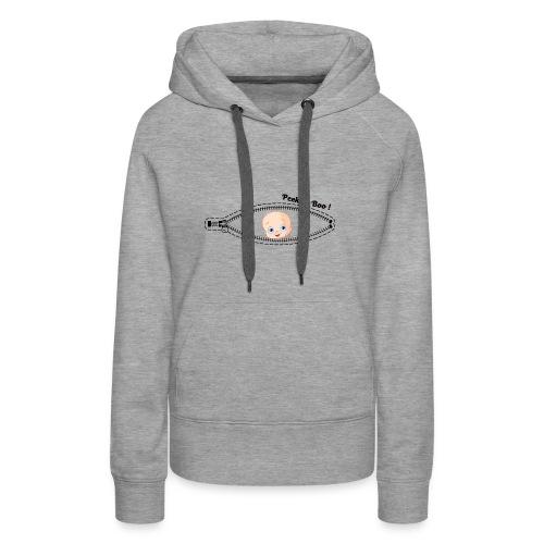 baby boy peek a boo funny infant zipper - Women's Premium Hoodie