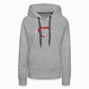 Nurse life heartbeat cardiac Nurse - Women's Premium Hoodie