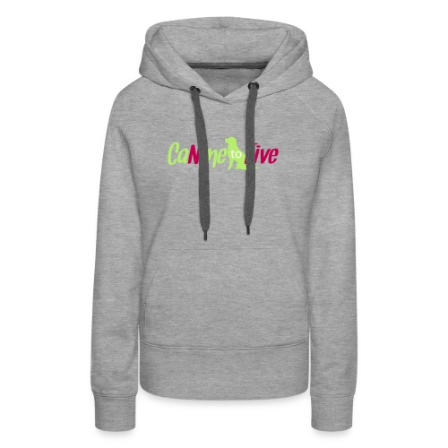 CaNine to Five Logo - Women's Premium Hoodie