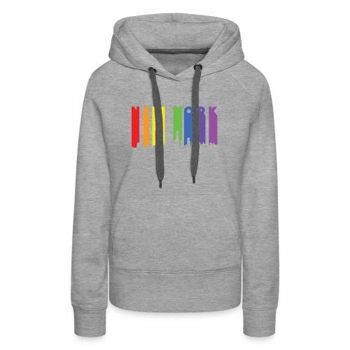 New York design Rainbow - Women's Premium Hoodie