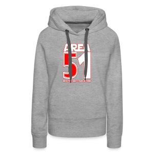 Area 51 T-Shirt Depth Contemplation - Women's Premium Hoodie