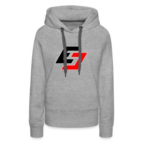 EavesDrop ED logo (Red + Black) - Women's Premium Hoodie