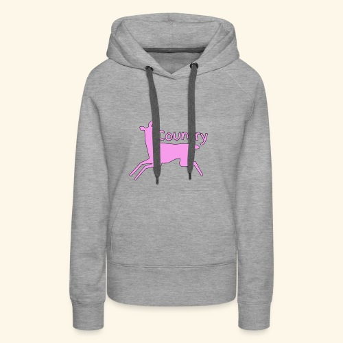 Girl Country ( Pink Country ) - Women's Premium Hoodie