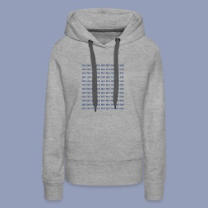 no but yo - Women's Premium Hoodie