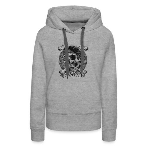 Smoke Skull - Women's Premium Hoodie