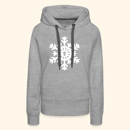 snowflake vector white - Women's Premium Hoodie