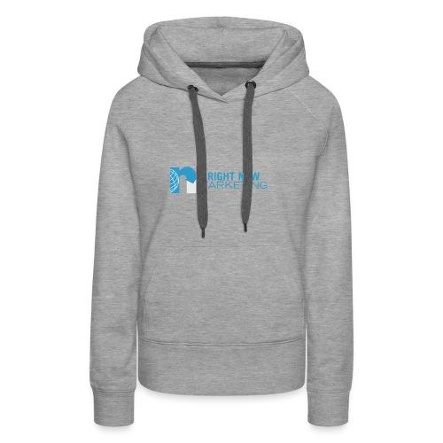 Right Now Marketing Full Logo - Women's Premium Hoodie