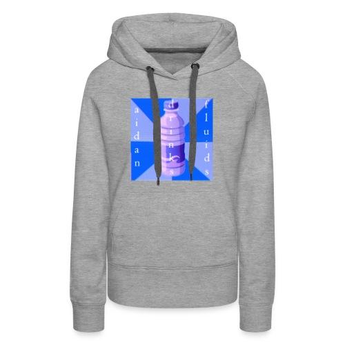 Aidan Drinks Fluids Logo - Women's Premium Hoodie